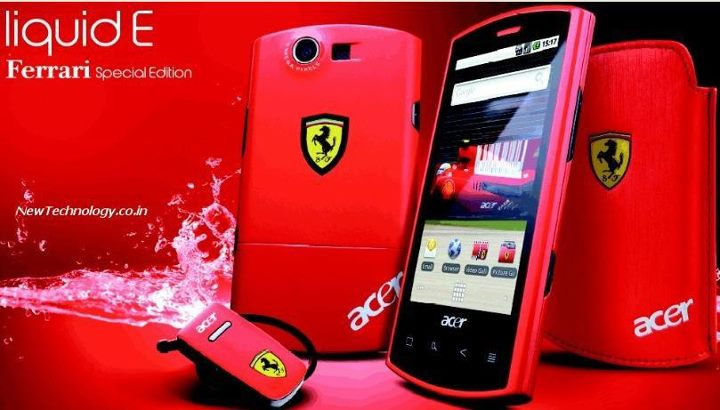 Acer Smart Phone Liquid-e Ferrari special edition